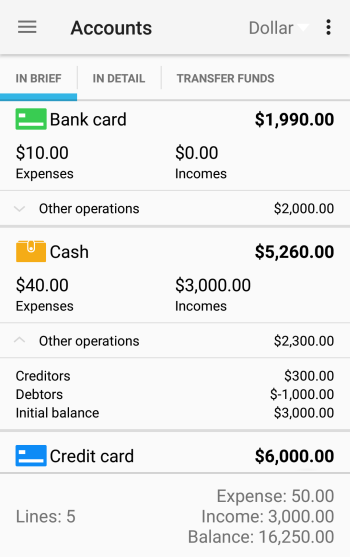 home bookkeeping for android