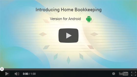 Home Bookkeeping for Android. One-minute video presentation