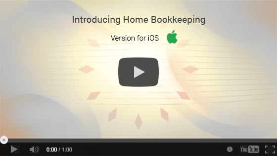 Home Bookkeeping for iPhone and iPad. One-minute video presentation