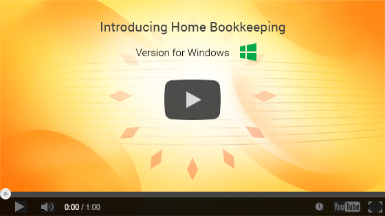 Home Bookkeeping for Windows. One-minute video presentation